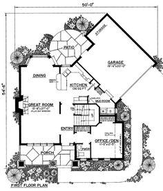 Triangle shape plan geomancy plans pinterest for Irregular house plans