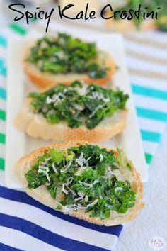 Spicy Kale Crostini - seven thirty three