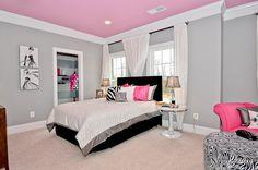 Pretty Pink Modern Bedroom
