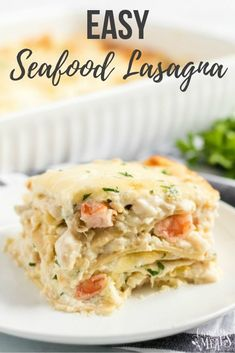 Easy Seafood Lasagna Easy Seafood Lasagna My Easy Seafood Lasagna Recipe Is A Fish Based Version Of That Classic Italian Treat But With A Creamy Sauce You Ll Love Easy Seafood Lasagna Recipe Familyfreshmeals Seafood Lasagna Recipe Shrimp Lobster Creamy Tilapia Fish Recipes, Best Seafood Recipes, Lobster Recipes, Shrimp And Scallop Recipes, Shrimp Recipes For Dinner, Seafood Lasagna Recipes, Lobster Lasagna Recipe, Shrimp Lasagna, Food Recipes