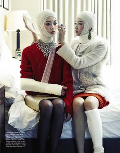 """Injured Girls' Party"" by Tae Woo for Vogue Girl Korea"