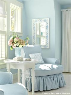 Serene Soft Pastels And Pale Coastal Blues ! by Tracey Rapisardi Design