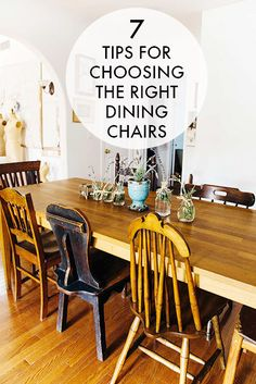 7 Tips For Choosing The Right Dining Chairs