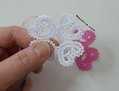 KENAR DANTEL ÖRNEĞİ SADE VE ŞIK ÖMÜR TÜKETEN MODELİ   Nazarca.com Crochet Lace, Crochet Earrings, Floral, Flowers, Pattern, Jewelry, Fashion, Diy And Crafts, Crochet Doilies