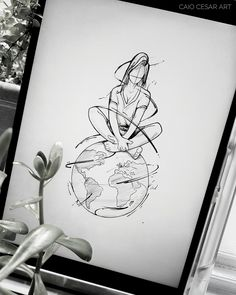 Ideas For Travel Art Drawing Inspiration Pencil Art Drawings, Art Drawings Sketches, Cool Drawings, Tattoo Drawings, Body Art Tattoos, Tatoos, Pinterest Arte, Illustration Tattoo, Bild Tattoos