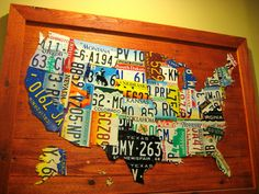License Plate Map  ~ I REALLY want to make one of these!