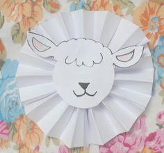 DIY :Rosace en papier de l'Aïd imprimable