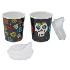 Dia De Los Muertos Sippy Cups - available at Darling Clementine. i WILL be getting theses!!