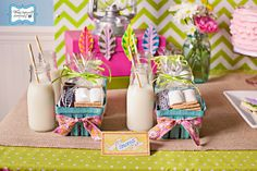 girls party with a camping theme - SO CUTE!