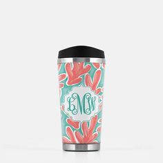 Monogrammed Stainless Steel Travel Mug Personalized Travel Mug Custom Travel Tumbler monogrammed Gift by SassySouthernGals now at http://ift.tt/2yvyobt