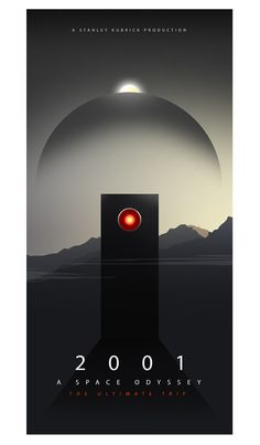 2001: A Space Odyssey Alternative Movie Poster by Ciaran Monaghan, via Behance