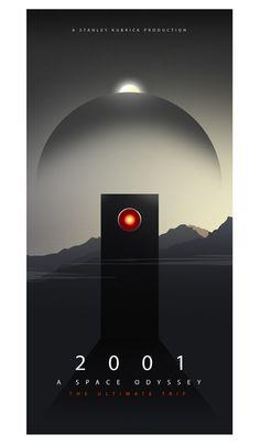 2001: A Space Odyssey Alternative Movie Poster by Ciaran Monaghan, via Behance