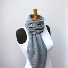 Button scarf...now this is an interesting idea...I look terrible in scarves, but this might actually work.