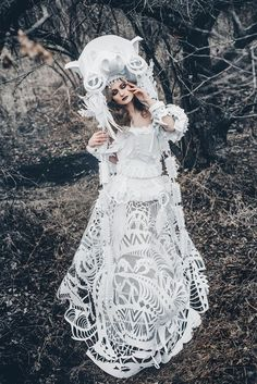 A selection of the beautiful paper creations of Russian artist Asya Kozina, who uses paper art to replace fabric, and create delicate compositions, light and