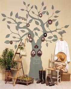 Un arbre généalogique peint sur un mur / A genealogical tree painted on the wall