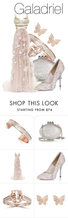 """Galadriel - Lord Of The Rings"" by the-wonders-fashion on Polyvore featuring Kevin Jewelers, Christian Louboutin, Marchesa, Paper Dolls, lordoftherings, lotr and galadriel"
