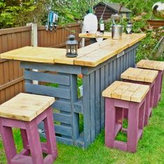 Pallet Garden Furniture Ideas for Functional Models In recent years, a deco trend of recovery has appeared and developed very quickly: garden furniture in pallets . We ended up making pallet furniture f.