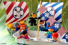 Sommerbastelidee: Piratenschiffe aus Eierkartons (Freebies)   Cuchikind - Ein Mama-DIY-Blog