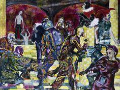 Daniel Richter, Don´t mess with Jill, dem Verfeinerer der Geschichte, 2001 Neo Dada, Cobra Art, Love Painting, Collage, Conceptual Art, Contemporary Paintings, Painting Techniques, Art Reference, Modern Art