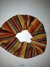 Bunchy Scrunchy Fall Brown Rust Orange Beige Maroon Hair Tie