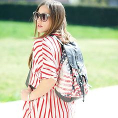 #BackToSchool Federica Romani with her Silove striped shirt