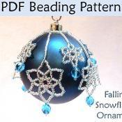 Falling Snowflakes Beaded Ornament #2931 - via @Craftsy