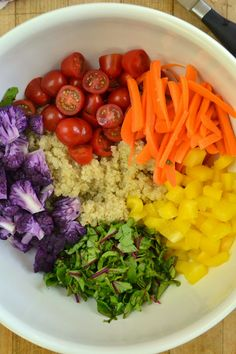 Color Wheel Quinoa Salad --- and how come there are no blue foods? - The View from Great Island