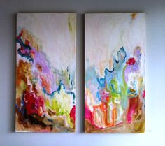 Paintings by Rebecca Casa. Love the colors.