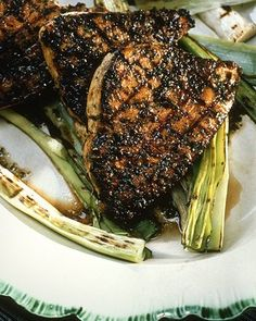 Grilled Swordfish Steaks with Olive Pesto Recipe