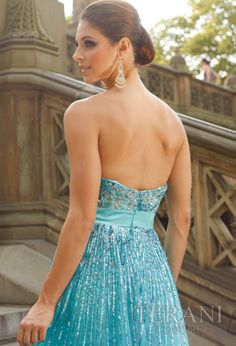 Terani Couture 2012 High Low Prom Dress 632