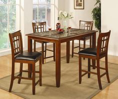Buckingham Counter Height Table by Coaster - HomePlex Furniture - Pub Table