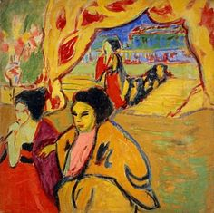 Ernst Ludwig Kirchner (1880-1938) Japanisches Theater - Japanese Theatre (1909) oil on canvas 113.70 x 113.70 cm