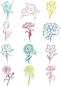 Flower silhouettes