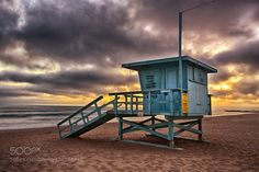 Venice Beach Lifeguard Tower at Sunset by NeilFinn travel with us at www.pifizone.com