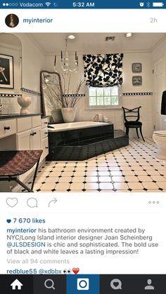 Love this chic B&W bathroom