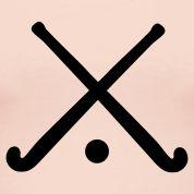 Light pink field hockey crossed sticks Tanks Design