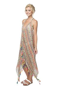 Maxi Tassel Dress in Always Fiesta Print