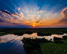 Aerial view of Iowa sunset by Aerial Advantage on @creativemarket