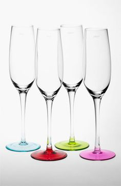 kate spade new york colored champagne flutes (Set of 4) available at #Nordstrom