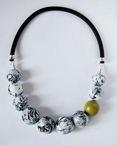 polymer crackle necklace | Flickr - Fotosharing!