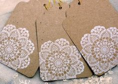 I want to make christmas paper/tags with doilies and white spray paint this year