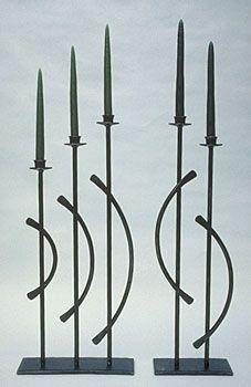 designer candlestands in metal