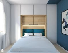 Small bedroom, smart storage, nice window