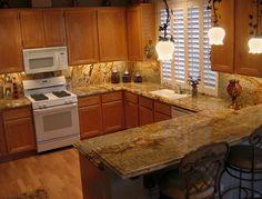 the best color granite countertop for honey oak cabinets   honey