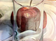 Oil paint on canvas. i painted this apple and glass. It now represents my purpose, intrigue, vitality, insight, sensuality, creativity, determination, perspective, taboo, and my passion. This is my logo.
