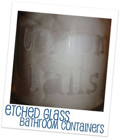 Re-purpose Jars to Bathroom accessories