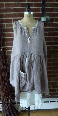 Magnolia Pearl Linen Farm Dress $348  **LAST ONE**