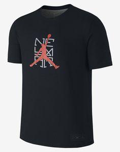 Nike Logo NJR x Jordan Men's T-Shirt: Black