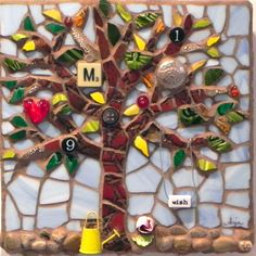 Tree of Life by Anja Hertle  ~  Maplestone Gallery  ~  Contemporary Mosaic Art
