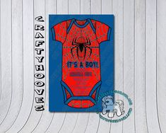 Superhero Spiderman Baby Shower It's a Boy Party by CraftyHooves